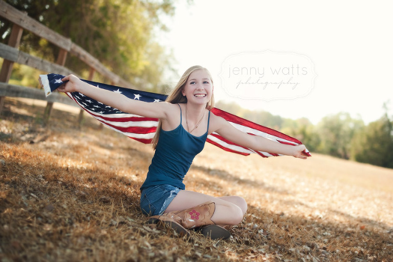 young preteen girl celebrates and honors heros on 9.11