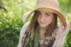 teen girl in a summer hat